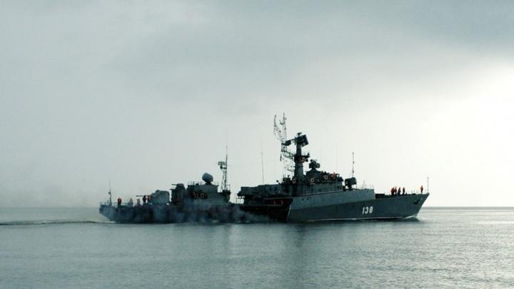 """МПК """"Нарьян-Мар"""" прошел учения в Баренцевом море"""