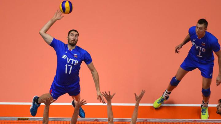 Российские волейболисты обыграли Бразилию в Лиге наций