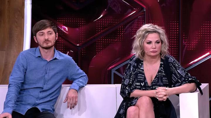 """Мария Максакова и Далхат Халаев. Кадр из программы """"Андрей Малахов. Прямой эфир"""""""