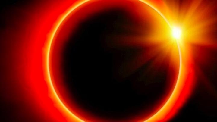 Кольцеобразное солнечное затмение. Прямая трансляция
