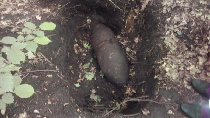 Липецкие саперы уничтожили 100-килограммовую бомбу времен войны