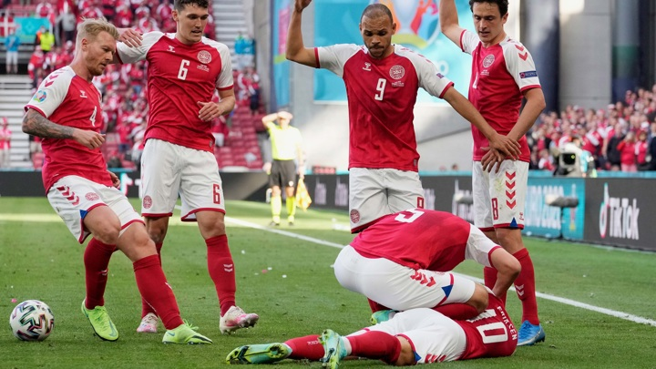 Эриксен потерял сознание в матче Дания – Финляндия