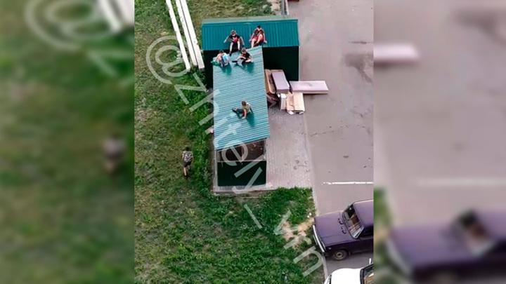 Играли в Тарзана. Опасные развлечения детей в Воронеже сняли на видео