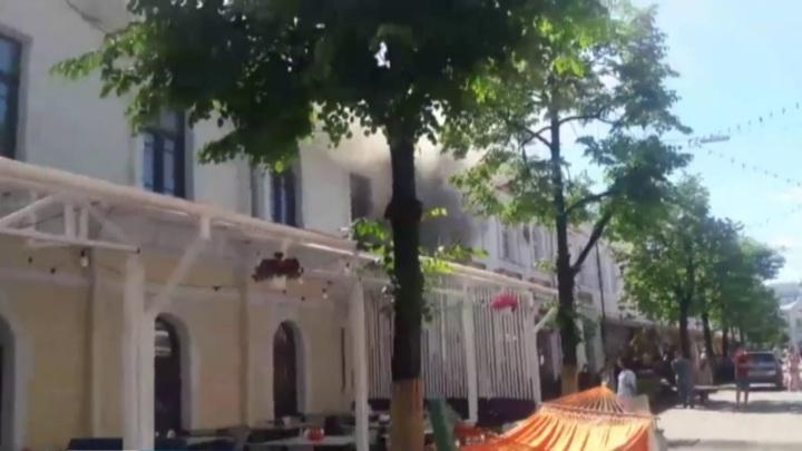 В центре Ярославля произошел пожар в кафе