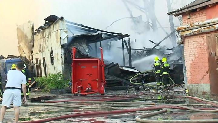 При пожаре в центре Москвы пострадали четыре человека