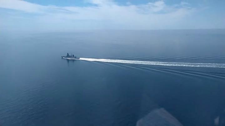 Минобороны опубликовало видео пролета над нарушителем границы