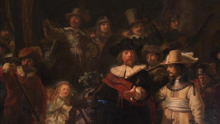 """Недостающие части картины Рембрандта """"Ночной дозор"""" восстановили в Амстердаме"""