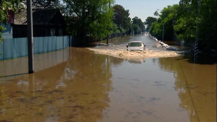 Грядущий паводок может подтопить хабаровские улицы