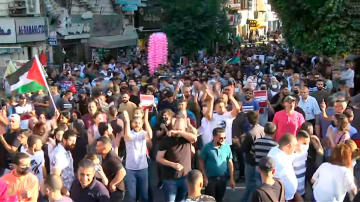 Полицейская жестокость: акция протеста в Рамалле