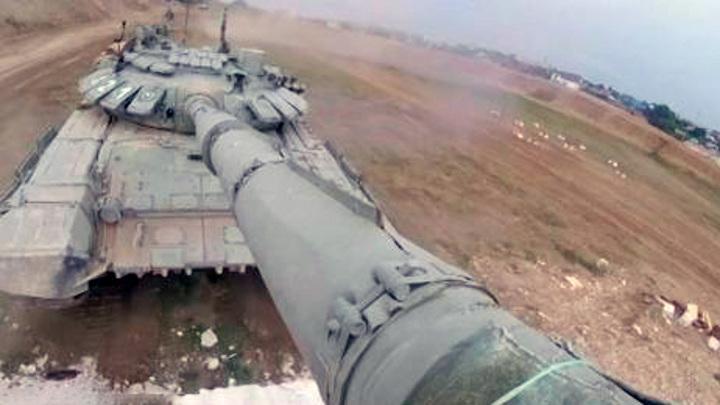 В Крыму прошли учения танкистов Черноморского флота
