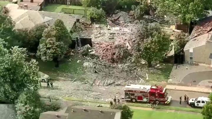 В Техасе частный дом взлетел на воздух