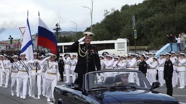 Репетиция парада ко Дню ВМФ России прошла в Североморске