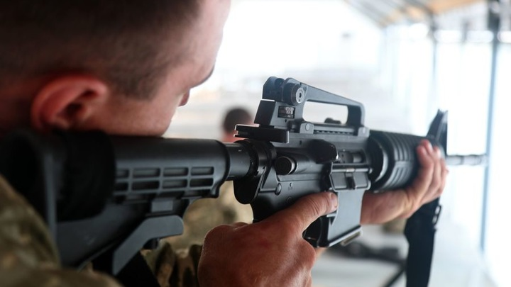 Украинские морпехи потренировались с американским оружием