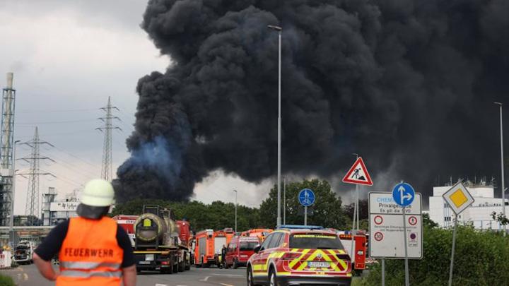 В Германии потушили пожар на химзаводе