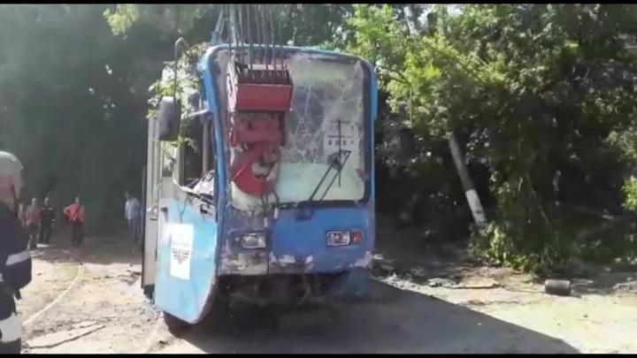 В Курске трамвай сошёл с рельсов
