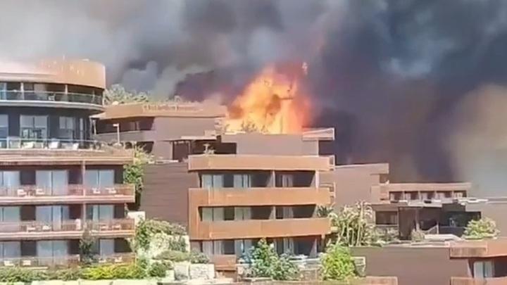 Около сотни российских туристов эвакуируют из турецкого отеля Titanik Deluxe Bodrum из-за лесного пожара
