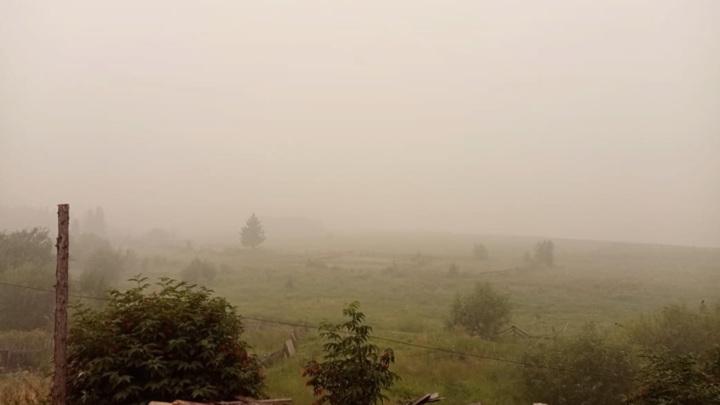Дым от якутских пожаров накрыл населенные пункты Прибайкалья