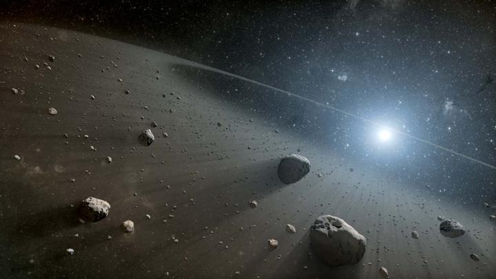 Так выглядит пояс астероидов в представлении художника.