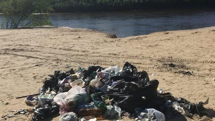 В Самаре на берегу Волги нашли несанкционированную свалку