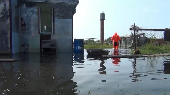 """Амур у берегов Хабаровска превысил отметку """"опасное явление"""""""