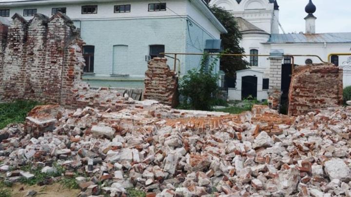 Еще в одном муромском монастыре рухнула стена
