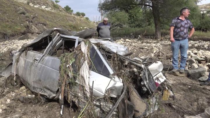 В Дагестане найдено тело одного из пяти человек, пропавших схода селя
