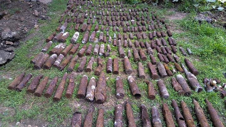 На частном подворье в Краснодарском крае нашли больше 300 боеприпасов