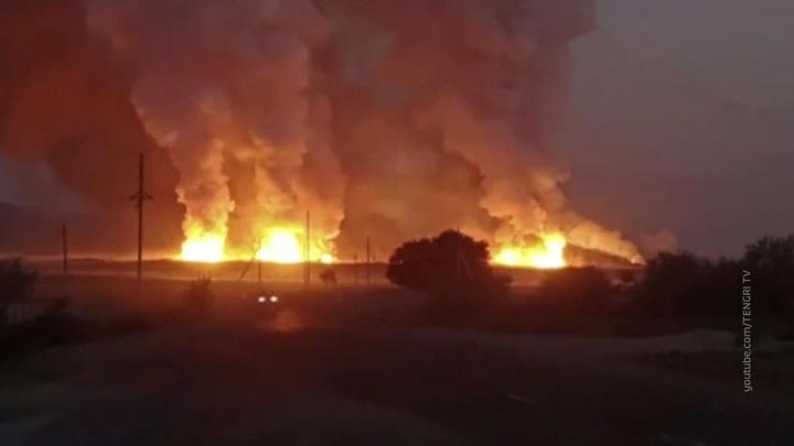 Пять человек погибли в результате взрывов на складе воинской части в Казахстане