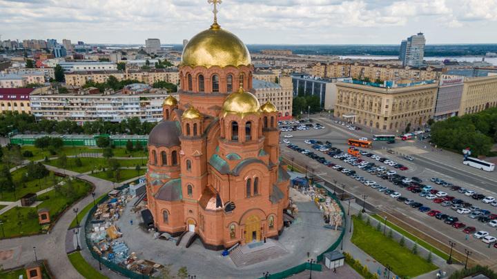 Памяти Александра III: в Волгограде освятили возрожденный собор
