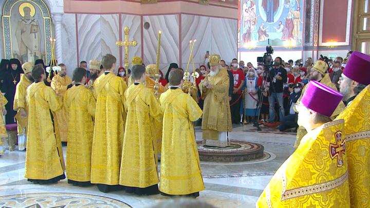 В Волгограде освятили собор Александра Невского