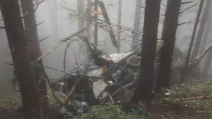 Офицеры погибли при крушении военного вертолета. Видео