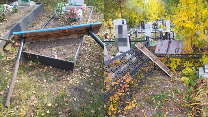 Вандалы с корыстным умыслом разгромили кладбище на Южном Урале