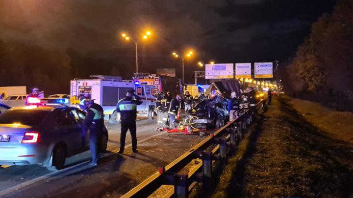 В массовой аварии на МКАД погиб человек