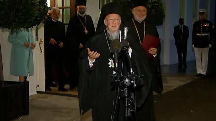 Варфоломей в США. Что православному патриарху нужно от президента-католика