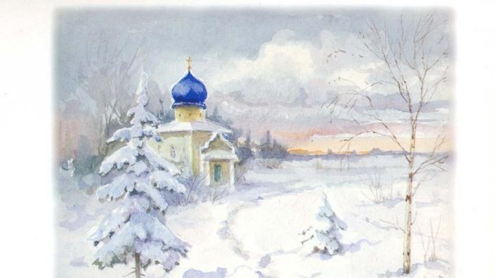 Зимняя часовня, Царское Село. Работа великой княгини Ольги