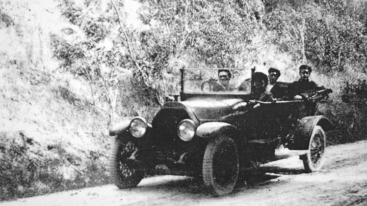 Из архива музея: инженер А.Климентов в поездке по губернии, 1925 год.