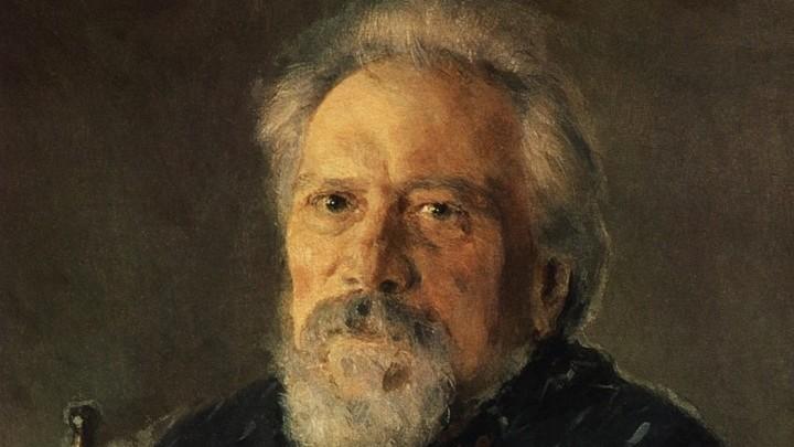 Николай Лесков. Портрет работы Валентина Серова, 1894 год